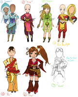 Legend of Korra inspired pointAdoptables (closed) by sinfulbearer