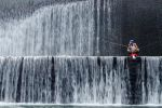 Fishing on Waterfall by momoclax