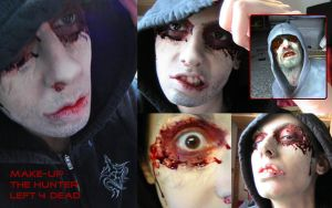 Hunter Left 4 Dead Make-up by Abessinier