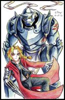 Edward and Alphonse by Ezaura