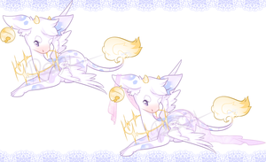 Angel Cow Design Adopt *CLOSED} by Reminel