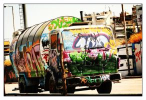 Public Vehicle-graffiti paint by styliano