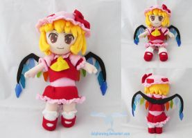 Scarlet Flandre Plush doll by dollphinwing