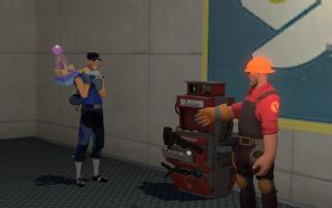 Red Engineer Meets Ass Pancake by TheNeonInferno