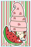 Kawaii Watermelon Ice Cream by Mitsuko-m-Chan
