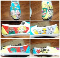 Courage The Cowardly Dog Shoes by SavannaBananaSplit