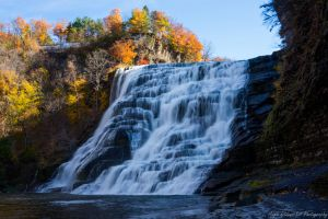 Ithaca Falls in Autumn by Angelan-sama