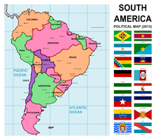 South America - alternate map by Leoninia