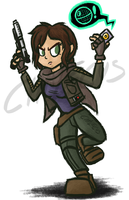 Jyn Erso (Day 2) by Chalecus