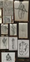 Fall 2014 Life Drawing Pile by SillySinz