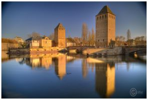 Strasbourg tours pont couvert by Satourne
