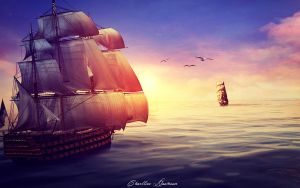 Beyond of ocean. by CharllieeArts