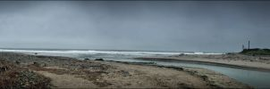 Surfer's Point Beach Panorama by XetsaPhoto