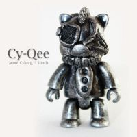 Cy-Qee, scout cyborg-2.5 inch by PatrickL