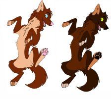 Red wolves: demon-juna-adopts by Unique-Sapphire