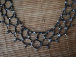 Beaded Net Choker by Tegatana
