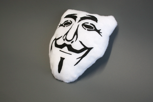 Guy Fawkes Mask / Anonymous Plushie by abcdennis
