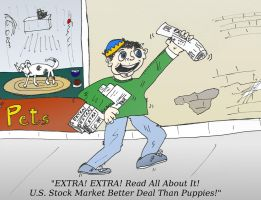 The paperboy sells news by optionsclickblogart