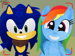 Rainbow Dash and Sonic selfie by Selfie1991