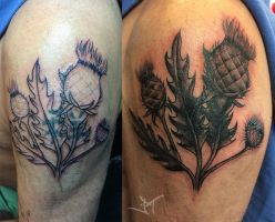 thistle cover up by Janaina
