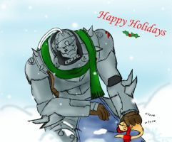 Happy Holidays... By Maruki by Armor-Alphonse-elric