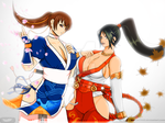 COMMISSION_Kasumi and momiji by axouel2009