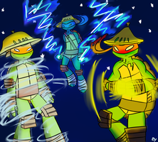 Powerful Turtles~ by Layneon