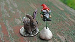 Gnome and (mutant) Bunny by CybOrSpasm
