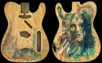 Guitar - Telecaster in Vodka Whiskey Ink Graphite by Carnegriff