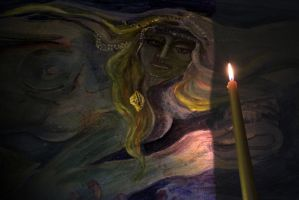 siren with candle by creapicform