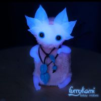 Glowing in the dark art doll by Furrykami-creatures