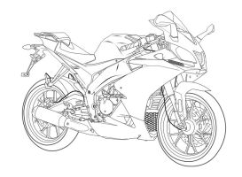 aprilia rs4 50 lineart by luvable3767