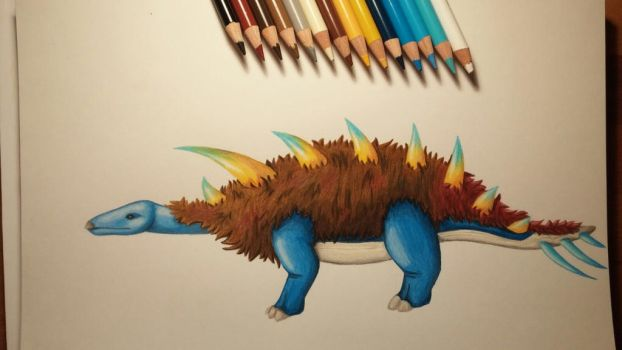 The Wolly Tundra Stegosaurus by AxXxelHunder