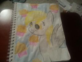 Derpy Hooves Watercolor Portrait by SoupInsanity