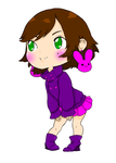 Chibi Line art by bunu colored by Minji-chan