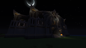 Minecraft exterior Temple by Curaxu