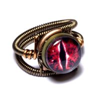 Steampunk Red Dragon Ring by CatherinetteRings