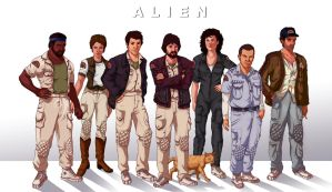 The Nostromo Crew by Deimos-Remus