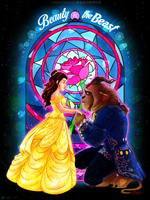 [2 PRINTS] Tale As Old As Time SPEEDPAINT by HeavenRose150