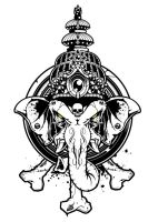 Ganesha  Vector Art - Head01 by BiancazCurze