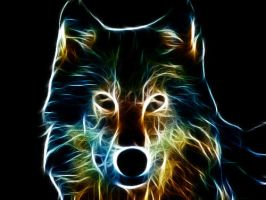 Wolf Face Fractal by Ishtar-the-guardian