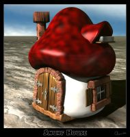 Smurf house by Tamilia