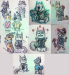 Animal Crossing oc's by Evertooth