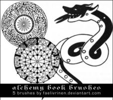Alchemy Book Brushes by faelivrinen-stock