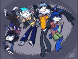 Zool and the gang by vaporotem
