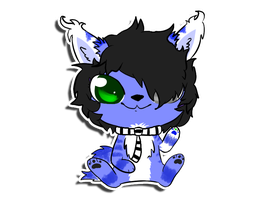 Gavin Sticker Commission by PorcyPinkPorcupine