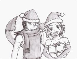 Gajeel and Levy - Christmas by Kello7