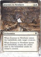 Magic Card Alteration: Journey to Nowhere. by Ondal-the-Fool