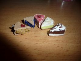 Polymer Clay Pie Slices by GoThIcFoX101