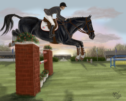 Tuxedo : Lugnas Int. - Show Jumping by MistyofSunrise